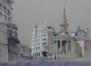 Langham Hotel, BBC House and All Souls Church, Portland Place