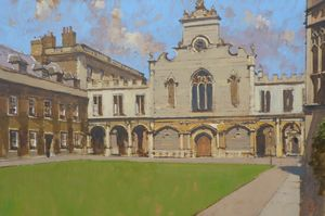 Peterhouse College, Chapel and Quad, Cambridge