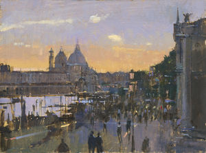 Evening, The departing tourists, Venice
