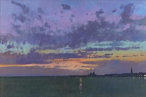 Distant Lights,Evening Crespuscule.Venice