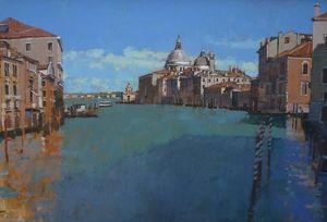 Towards the Dogana, Grand Canal, Venice