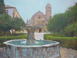Spanish Church and Fountain