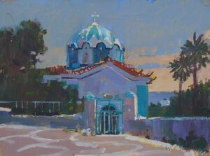 The Church with the Blue Dome, Samos