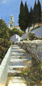 Steps to the Blue Church, Samos