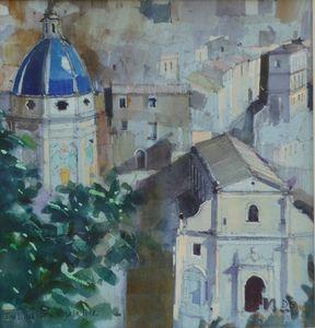 The Blue Dome. Ragusa Ibla