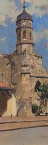 Church tower of St Etienne, Le Mas-d'Azil. France