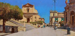 Piazza Municipio, Towards Porta Reale, Noto, Sicily