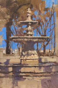Fountain Miradouro de Sao Pedro, Lisbon