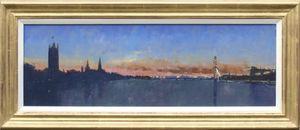 London Sunset, View from Lambeth Bridge