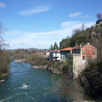 St Lizier from the Bridge - Towards Loup