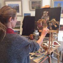 2015 Tanira working on still life