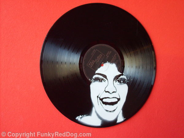 Funky Afro Spraypaint On Vinyl Record