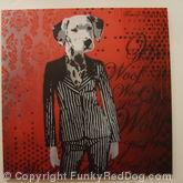 DogGirl in Pinstripe Suit
