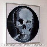 Smoking Skull Stencil