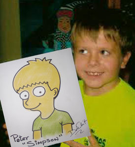 Boy as Simpson