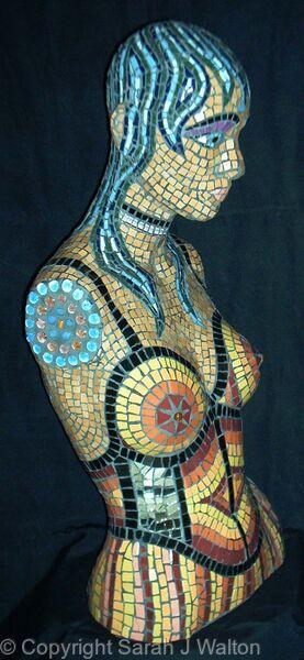 Mosaic manequin