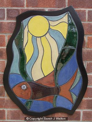 'Seascape' ceramic wall panel