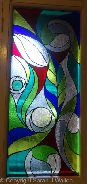 Tiffany Glass front door panel