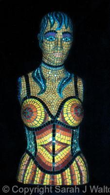 Mosaic mannequin - Front