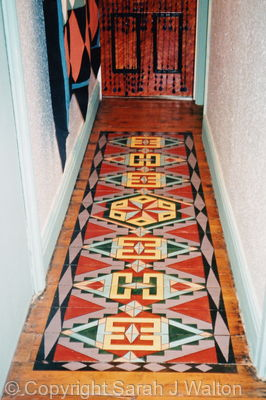 Hand painted floor