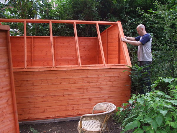 Shed building Aug 2012