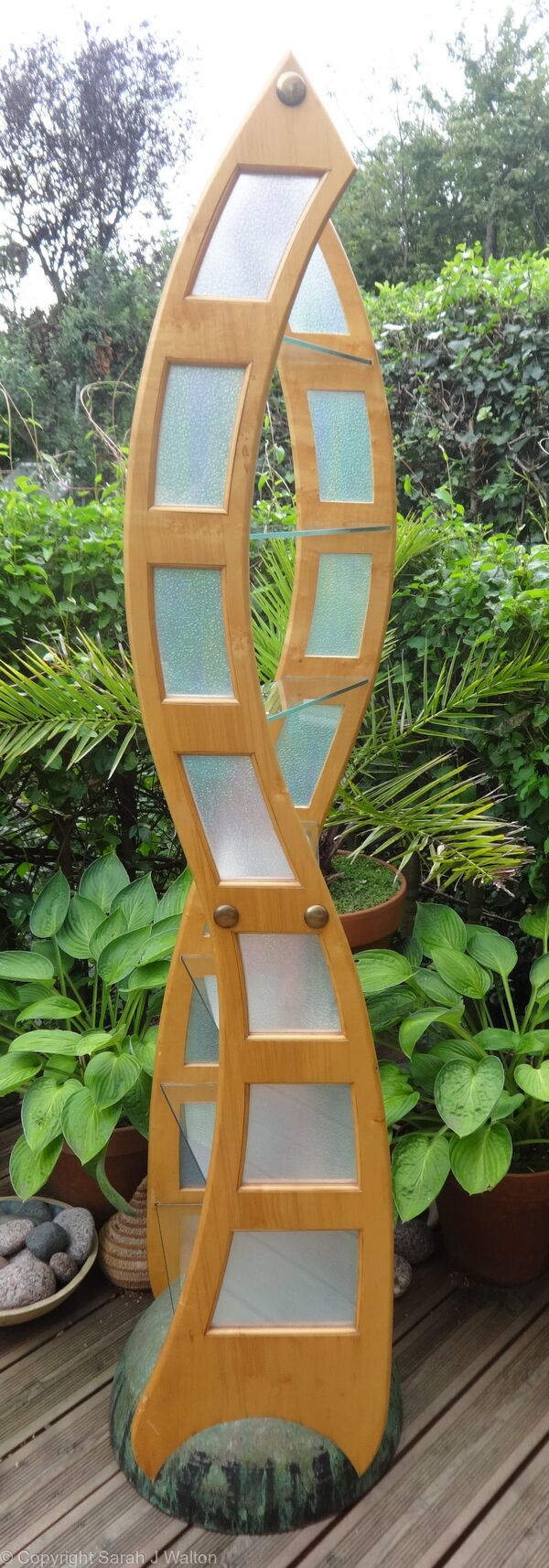Sycamore & glass display stand