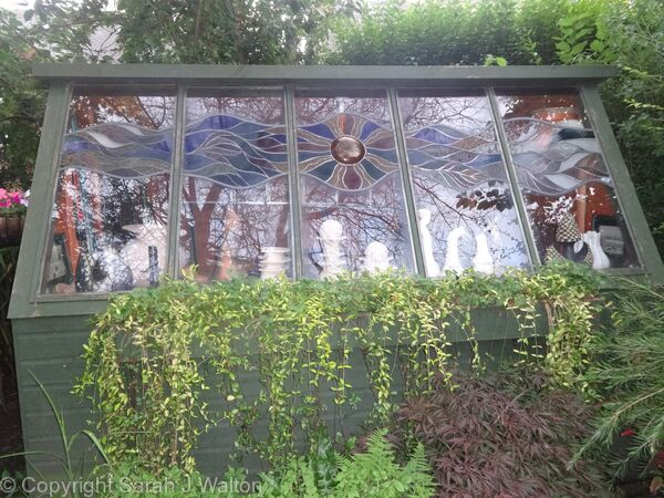 Stained Glass Shed Windows