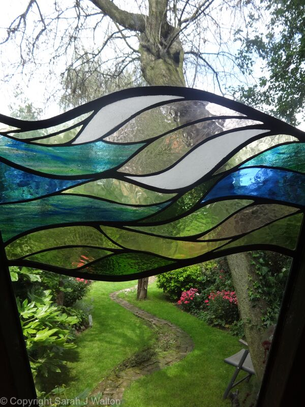 'Spring' shed glass panel