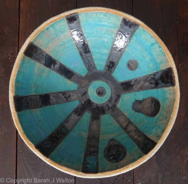Medium turquoise 'Sun' bowl