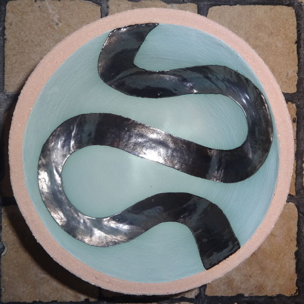 Small turquoise 'river' bowl