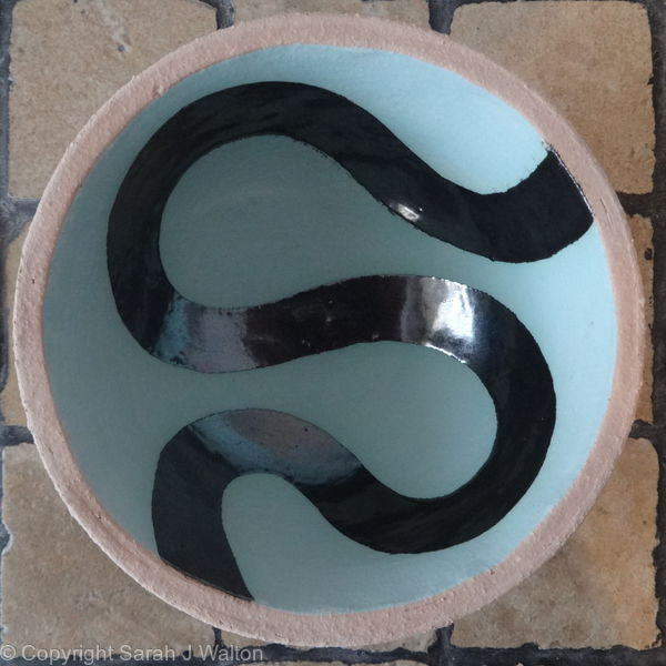 small light blue 'river' bowl