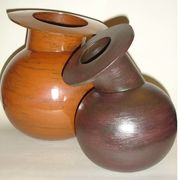 Pair of stoneware pots.