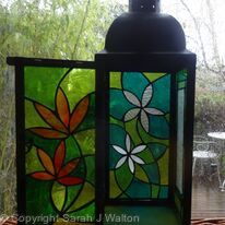 Tiffany Glass Lantern