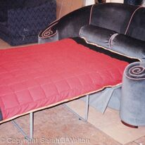 Sofa-bed with bed out