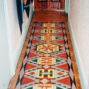 Hand painted floor