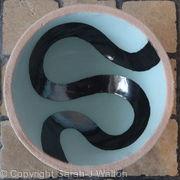 small light blue 'river' bowl