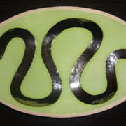 Lime green 'river' dish 2