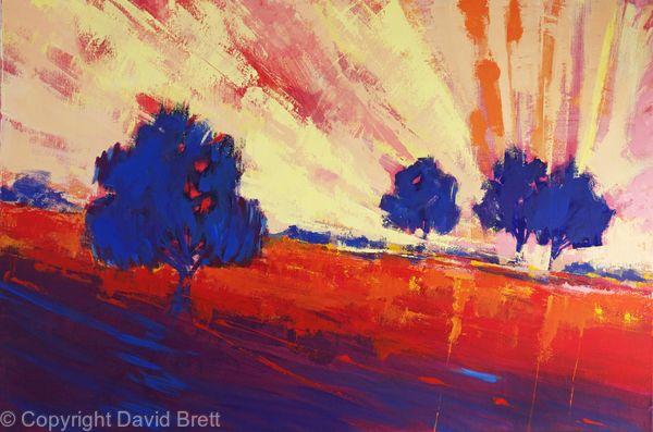 Blue Trees Sunset X