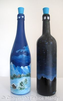 Glass painting for Can acrylic paint be used on glass bottles