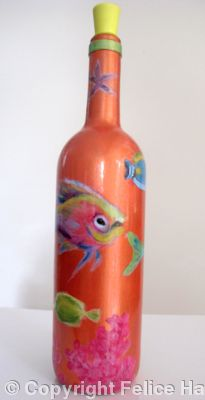 Tropical fish: olive oil/vinegar bottle