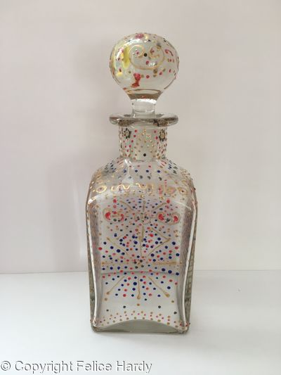 Gold-Painted Decanter