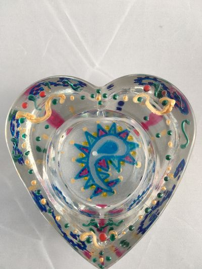 Heart of Glass green turquoise gold