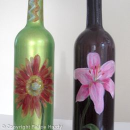 Flower design olive oil/vinegar bottles