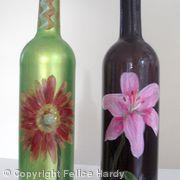 Flower design olive oil/vinegar bottles