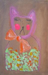 Gingerbread cat looks glum