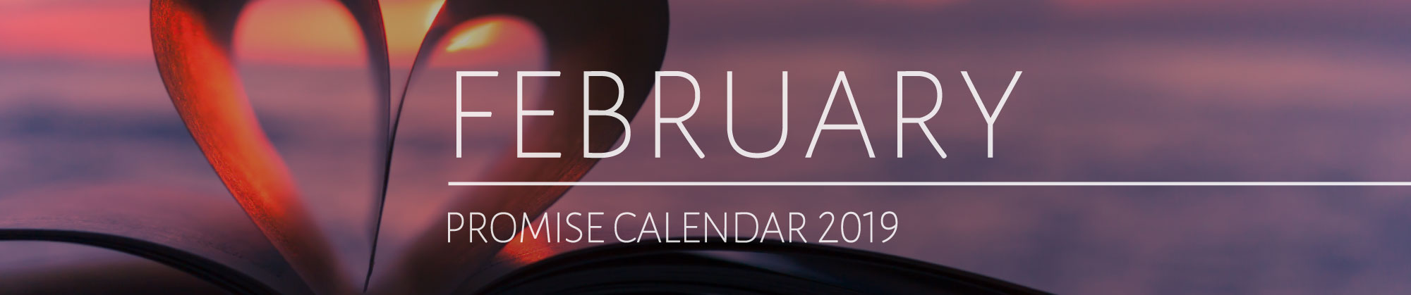 January 2019 Promise Calendar Header