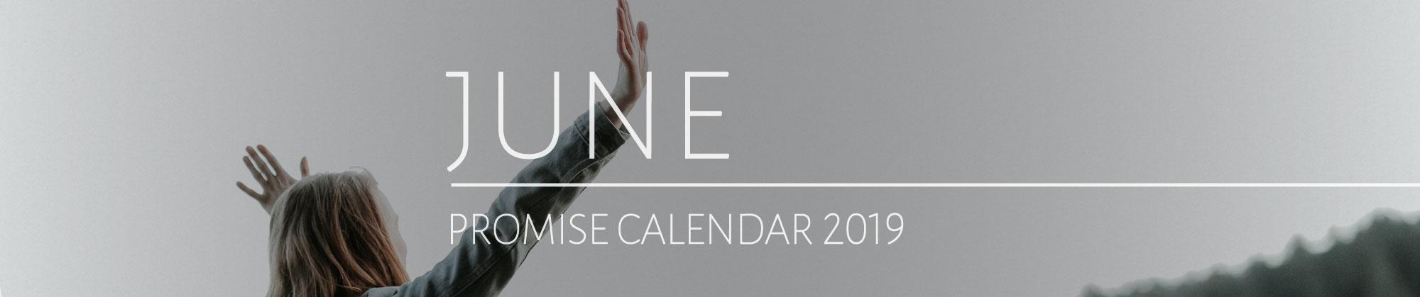 June 2019 Promise Calendar Header
