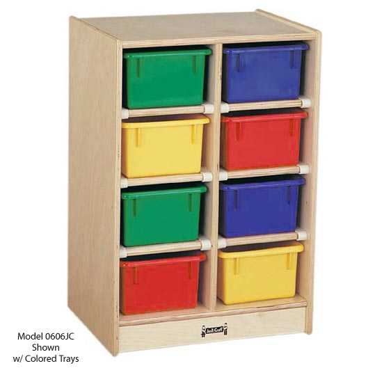 0606jc-8-tray-mobile-cubbie-storage-with-colored-trays