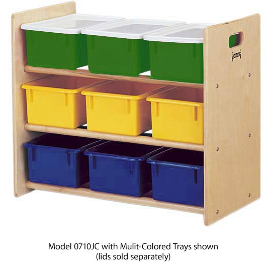 07100jc-9-tray-tote-storage-rack-with-clear-trays