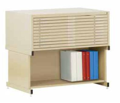 10 Drawer Flat File Storage System by Sandusky Lee